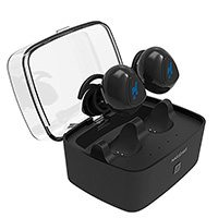Nasudake True Stereo Wireless Earbuds for Jogging and Workout with Portable Charging Case and Noise Cancellation